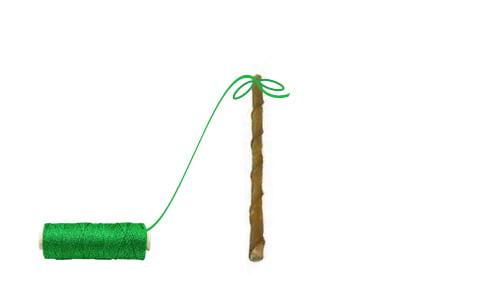 Ozdoby świąteczne DIY - mini choinka - krok 2