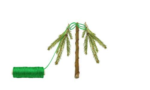 Ozdoby świąteczne DIY - mini choinka - krok 3
