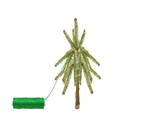 Ozdoby świąteczne DIY - mini choinka - krok 4