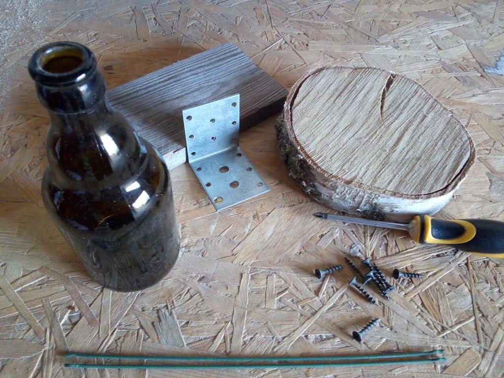 karmnik z butelki - materiały