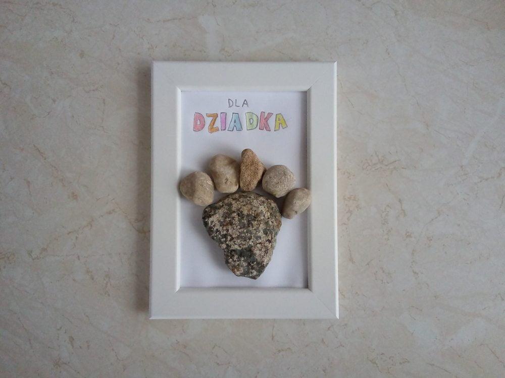 Kamienny prezent na Dzień Babci i Dziadka DIY
