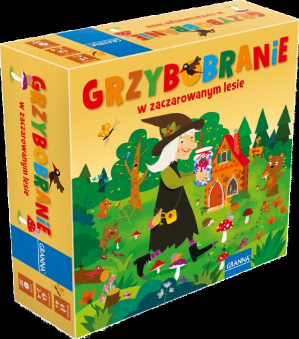 Gry planszowe dla 4 latków - Grzybobranie w Zaczarowanym Lesie
