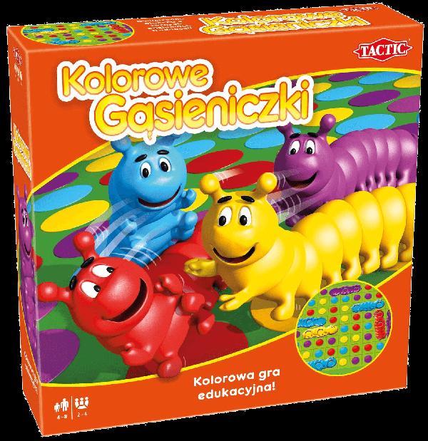 Gry planszowe dla 4 latka - Kolorowe Gąsieniczki