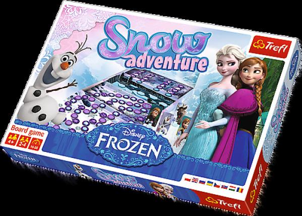 Gry planszowe dla 4 latków - Snow Adventure Frozen (Kraina Lodu)
