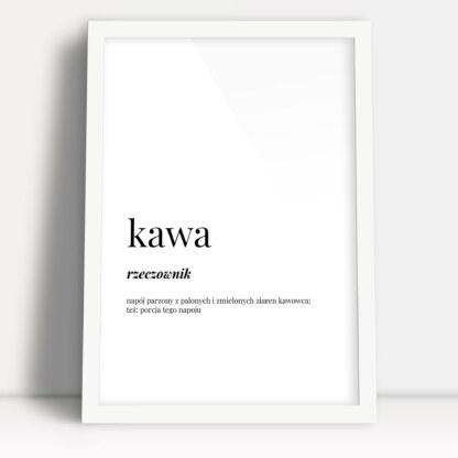 plakaty w kuchni aranżację definicja słowa kara oprawione w białą ramę do powieszenia w kuchni