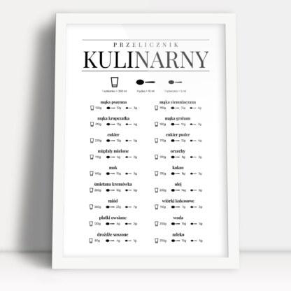plakaty do kuchni przelicznik kulinarny w formie plakatu