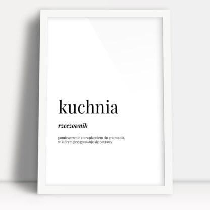 plakat kuchnia z definicją słowa do powieszenia na ścianie