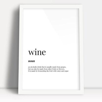 plakaty do kuchni w ramkach najlepszy napój na świecie wine wino