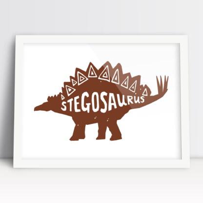 plakat do pokoju chłopca dinozaury stegozaur do powieszenia w pokoju dziecięcym