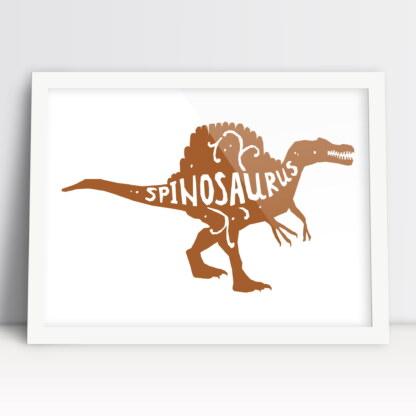 dinozaur plakat dziecięcy spinozaur do dziecięcego pokoju dziewczynki i chłopca