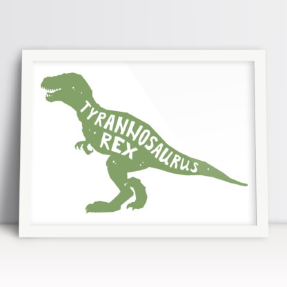 dinozaury tyranozaur rex plakaty z ramakami dla dzieci do powieszenia w pokoju chłopca