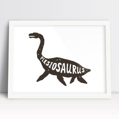 obrazki do pokoju dziecięcego dinozaur plezjozaur plakat do pokoju chłopca