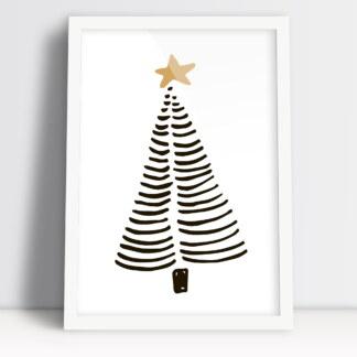 choinka bożonarodzeniowa plakat prosty sposób na świąteczny klimat
