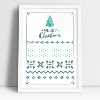 Choinka świąteczna plakaty świąteczne Merry Christmas