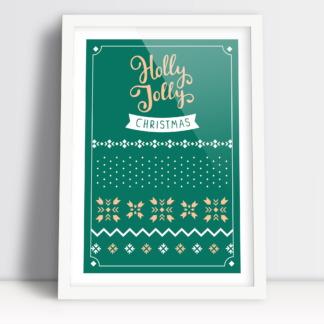 Holly Jolly Christmas plakaty świąteczne bożonarodzeniowe