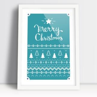 Merry Christmas plakat boże narodzenie świąteczny wystrój