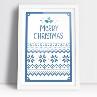 Merry Christmas plakat bożonarodzeniowy