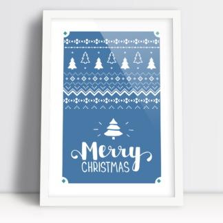 Merry Christmas plakat bozonarodzeniowy