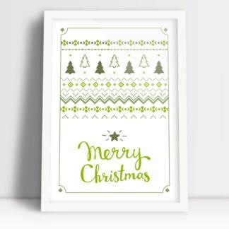 obrazek świąteczny Merry Christmas ze świątecznym sweterkiem plakat do salonu