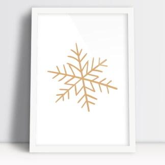 obrazek ze śnieżynką plakaty świąteczne z płatkiem śniegu