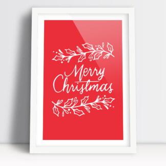 plakat święta Bożego Narodzenia z napisem Merry Christmas świąteczny nastrój