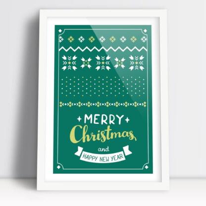 Plakat na stół świąteczny plakat na boże narodzenie z życzeniami świątecznymi i noworocznymi