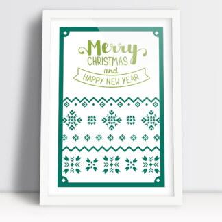 Plakaty swiateczne Merry Christmas and happy new year życzenia swiateczne i noworoczne
