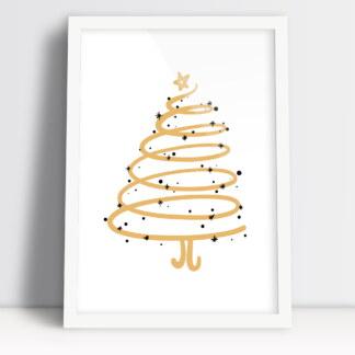 plakaty świąteczne na boże narodzenie z choinką klimat świąteczny