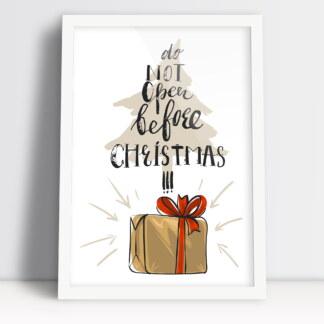 prezent na Boże Narodzenie plakat klimat świąt