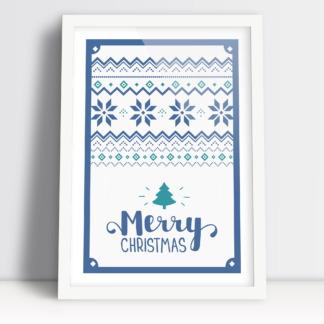 Świąteczne plakaty Merry Christmas ozdoby na świąteczny stół