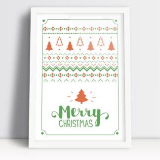 Merry Christmas świąteczne plakaty Wesołych świąt z choinka