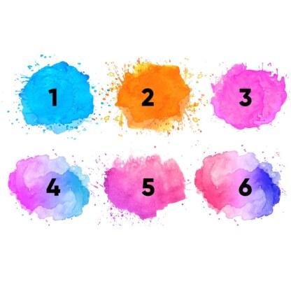 Wybór różnych kolorów na plakat z USG dziecka efekt akwareli