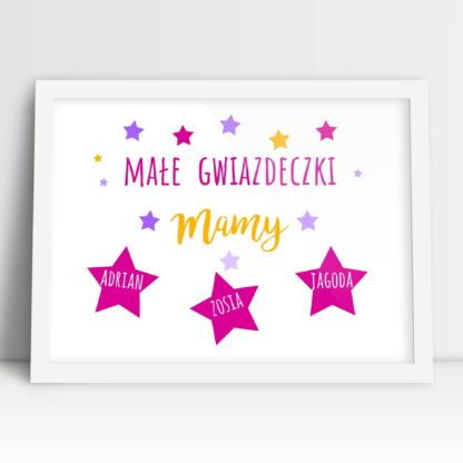 Ozdobny plakat na prezent dla mamy z okazji dnia matki od dzieci laurka