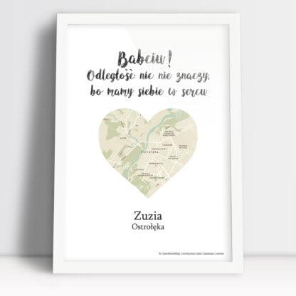 personalizowany plakat dla Babci droga do serca