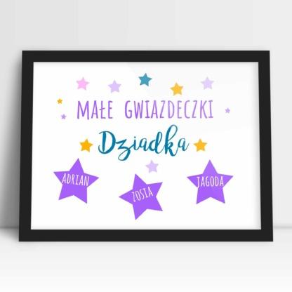 Plakat dla dziadka na prezent na imieniny lub dzień dziadka