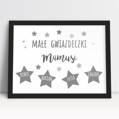 Plakat moja rodzina dla mamy z imionami pociech