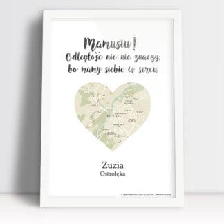 plakat z mapą dla mamy idealny prezent na dzień matki