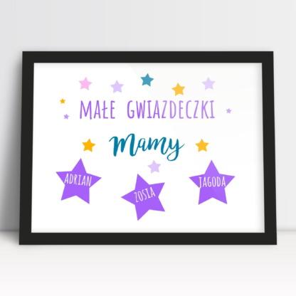 Wyjątkowy prezent na dzień mamy plakat z imionami dzieci personalizowany