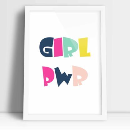 Dziewczęcy plakat do powieszenia w pokoju nastolatki Girl PWR