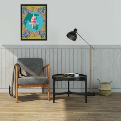Idealna ozdoba ścian w salonie kobiecy plakat splecionych przyjaciółek