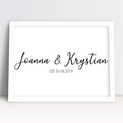 Idealny prezent na ślub i wesele personalizowany plakat nowożeńców