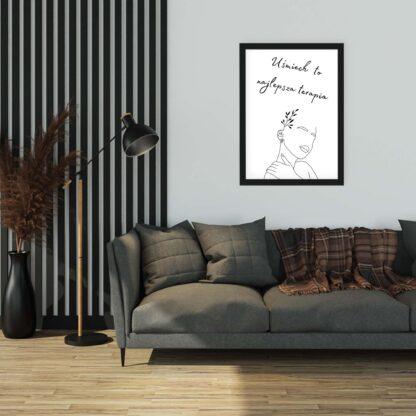 oryginalny upominek dla kobiety plakat na ścianę w salonie