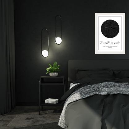 personalizowane plakaty dla par w ramie do powieszenia na ścianie w sypialni