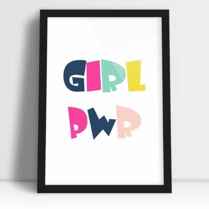 Plakat do pokoju dziewczynki girl pwr dziewczęca siła