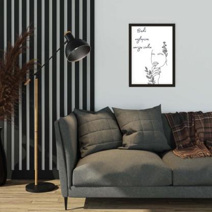 Plakat do powieszenia na ścianie w salonie z hasłem bądź najlepszą wersją siebie