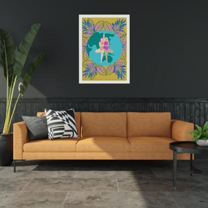 kobiecy plakat dla przyjaciółki plakat na ścianę w salonie