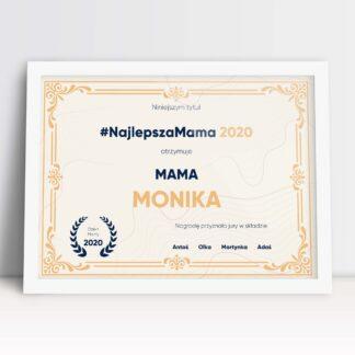 Plakaty dla mamy z okazji dnia matki dyplom w nagrodę