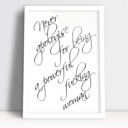 Pomysł na prezent dla kobiety plakat dla kobiety, nie przepraszaj za to kim jesteś