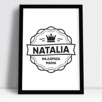Prezent na dzień matki obrazek z napisami i imieniem mamy